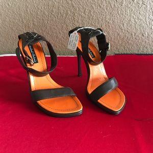 "Michael Antonio size 6.5 4 1/2"" brown heels"